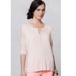 Dolan pink rayon and spandex 3/4 sleeve shirt- XS